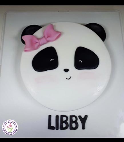 Panda Themed Cake - Face - 2D Cake 02 - Girl