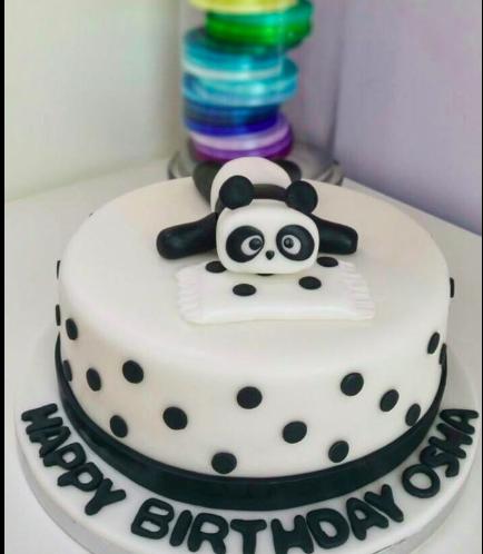 Panda Themed Cake - 3D Cake Topper - 1 Tier 01