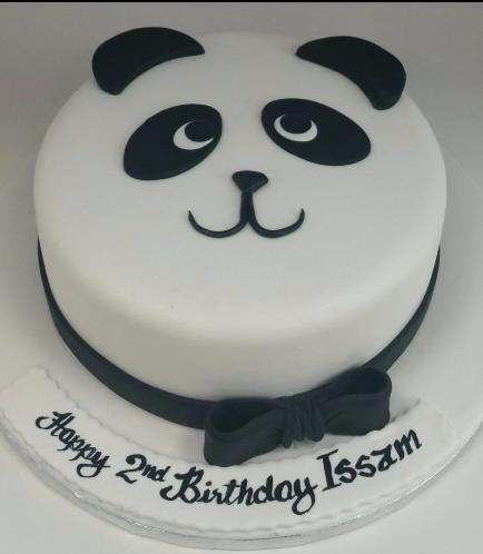 Panda Themed Cake - Face - 2D Cake 01