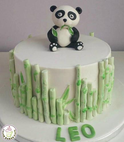 Panda Themed Cake - 3D Cake Topper - 1 Tier 02