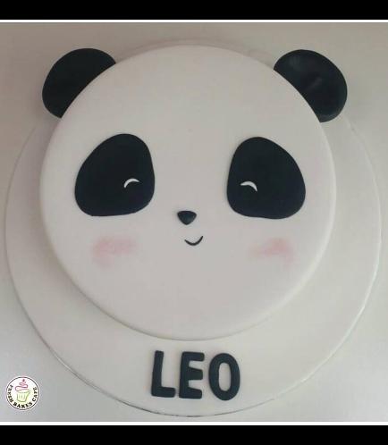 Panda Themed Cake - Face - 2D Cake 02 - Boy