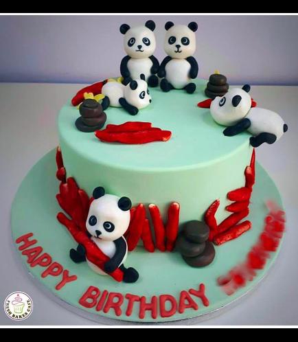 Panda & Cheetos Themed Cake