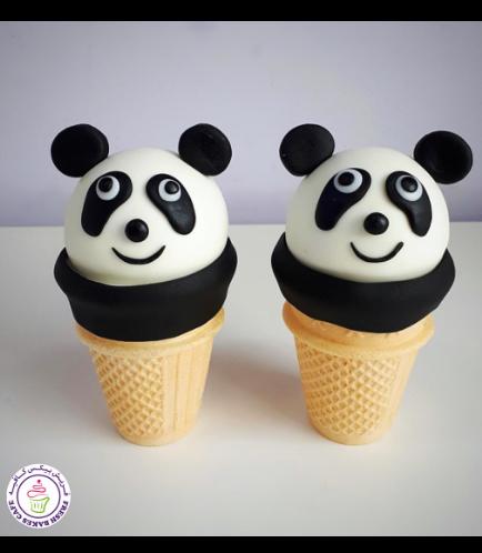Panda Themed Cone Cake Pops 02