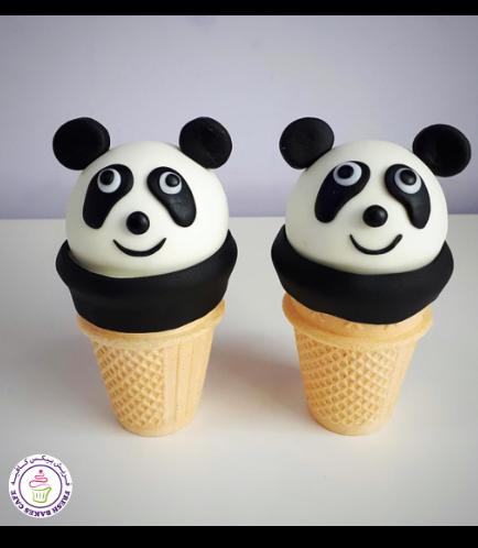 Panda Themed Cone Cake Pops 01