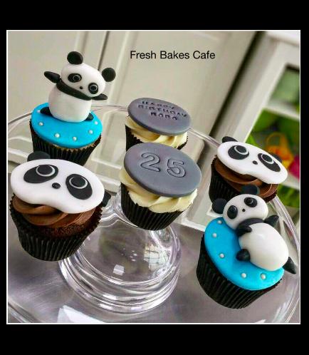 Panda Themed Cupcakes 1