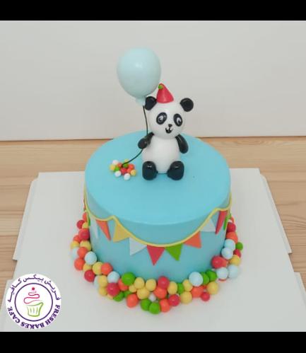Panda Themed Cake - 3D Cake Topper - 1 Tier 03