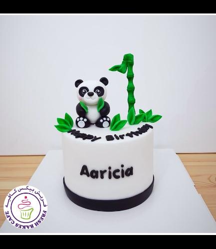 Panda Themed Cake - 3D Cake Topper - 1 Tier 04