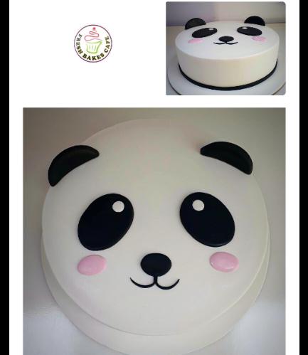 Panda Themed Cake - Face - 2D Cake 04