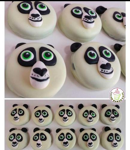 Panda Themed Chocolate Covered Oreos 02