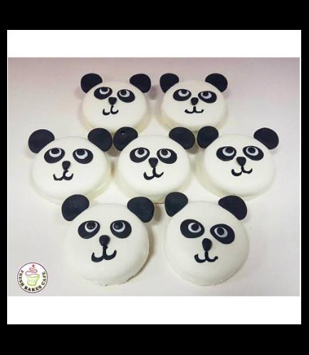 Panda Themed Chocolate Covered Oreos 01