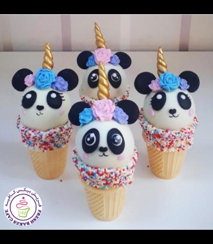 Cone Cake Pops - Panda Unicorn 01