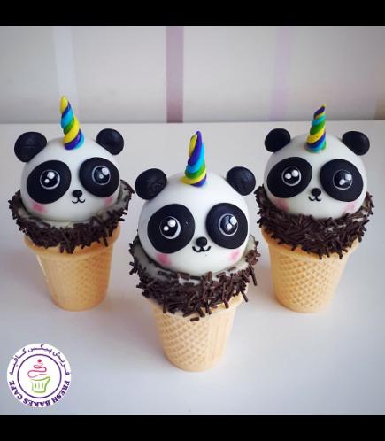 Panda Themed Cone Cake Pops - Unicorn 02