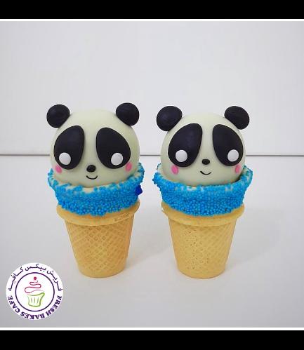 Panda Themed Cone Cake Pops 05