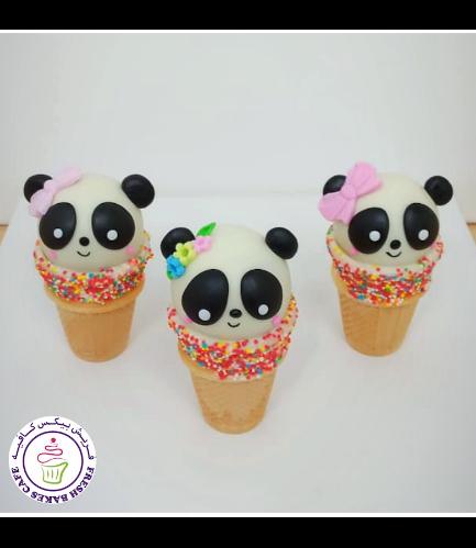 Panda Themed Cone Cake Pops 06