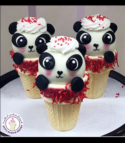 Panda Themed Cone Cake Pops 04