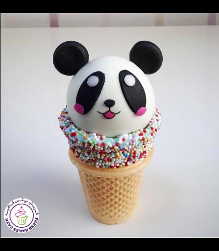 Panda Themed Cone Cake Pops 03