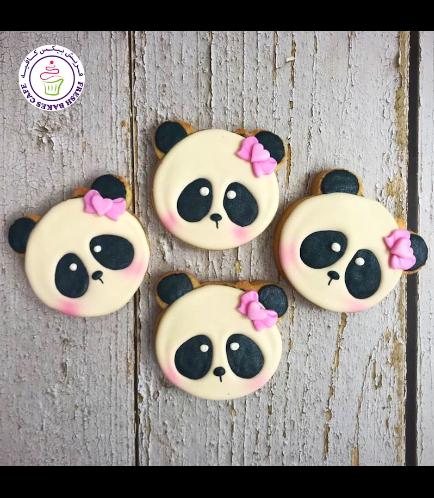 Panda Themed Cookies - Face