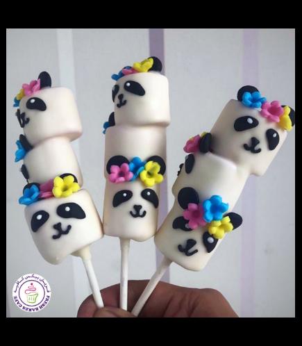 Panda Themed Marshmallow Pops