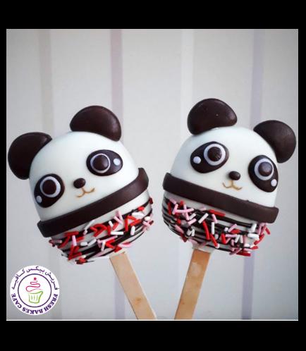Panda Themed Popsicakes