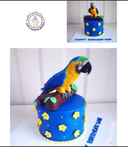 Parrot Themed Cake - 3D Cake Topper 02