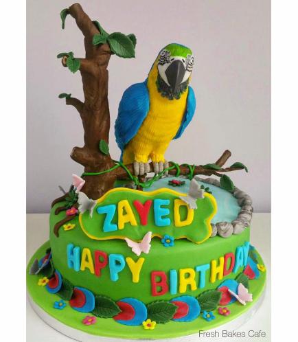 Parrot Themed Cake - 3D Cake Topper 01