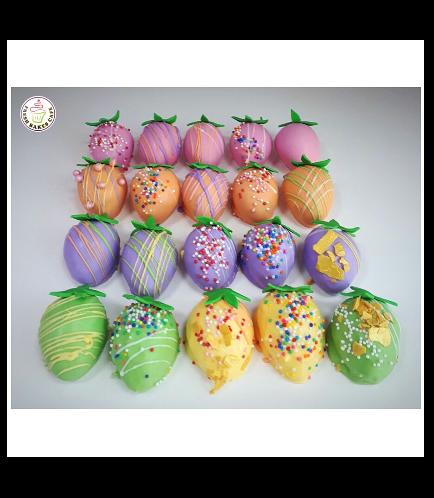 Pastel Colored Cake Truffles