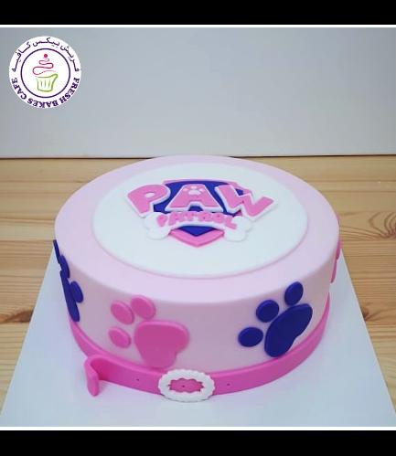 Cake - Logo - 2D Fondant Picture - 1 Tier 04