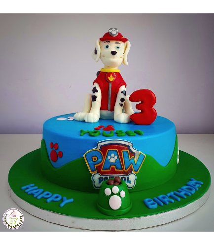 Cake - Marshall - 3D Cake Topper - 1 Tier 01