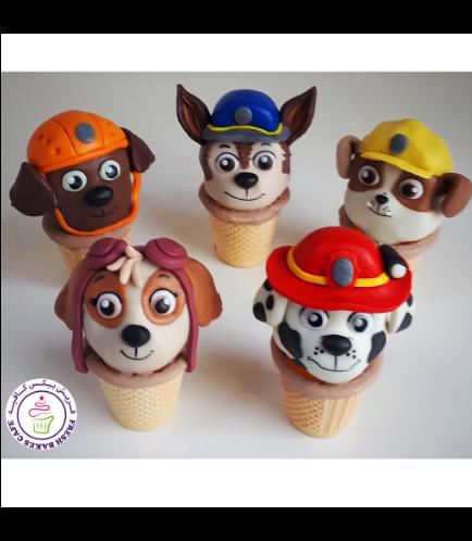 Paw Patrol Themed Cone Cake Pops