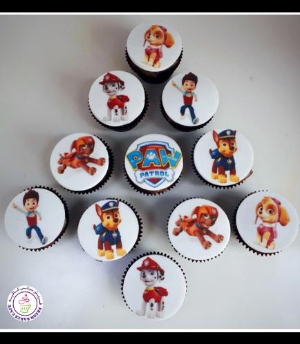 Paw Patrol Themed Cupcakes