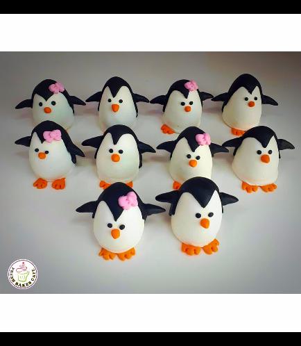 Penguin Themed Cake Pops w/o Sticks