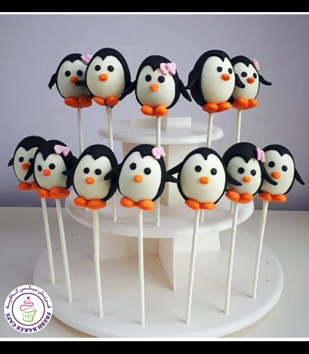 Penguin Themed Cake Pops 3