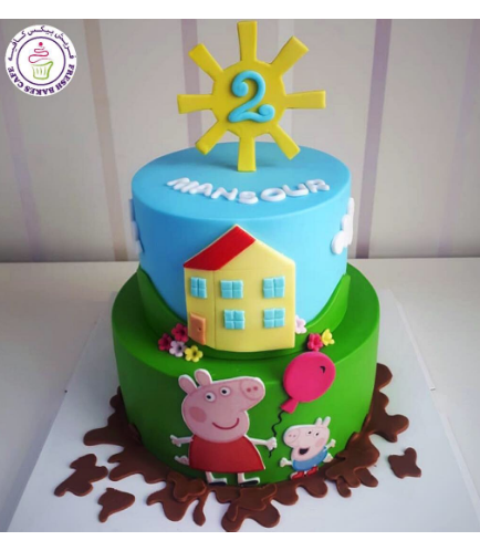 Cake - Picture - 2D Printed Pictures & 2D Shapes - 2 Tier