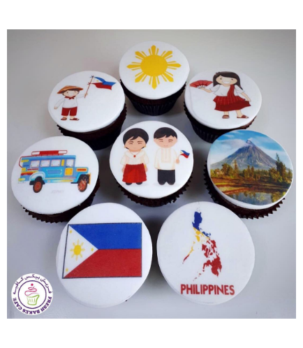 Philippines Themed Cupcakes