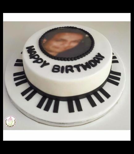Piano Themed Cake