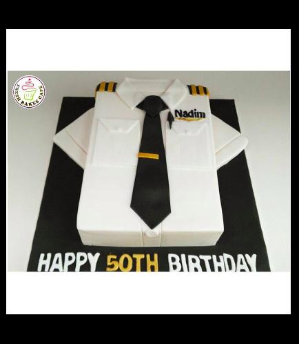 Pilot Shirt Themed Cake