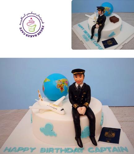 Pilot Themed Cake 06
