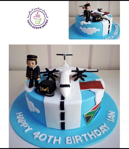 Pilot Themed Cake 05