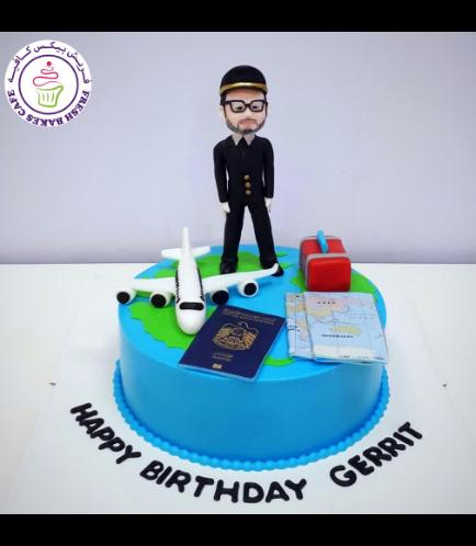 Pilot Themed Cake 03