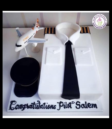 Pilot Shirt Themed Cake 02a
