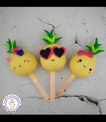 Pineapple Themed Popsicakes