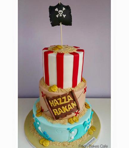 Pirates Themed Cake 04