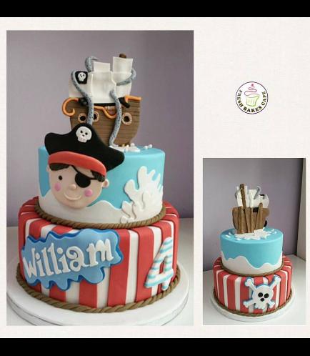 Pirates Themed Cake 06