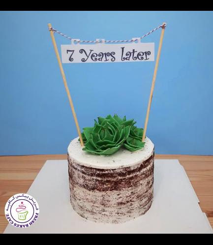 Succulent Themed Cake - Fondant