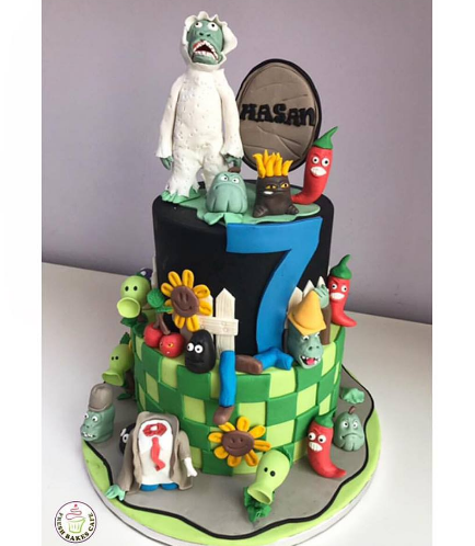 Plants vs Zombies Themed Cake - 2 Tier 02