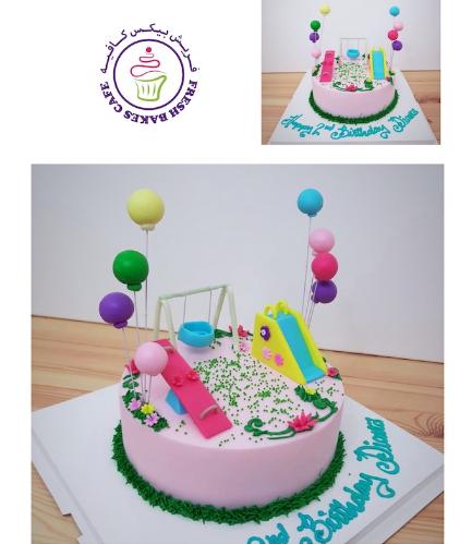 Playground Themed Cake