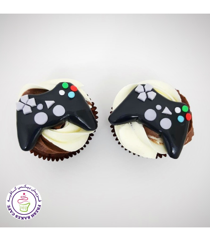PlayStation Controller Themed Cupcakes