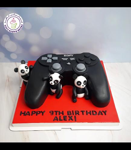 Playstation Themed Cake - Controller - 3D Cake - Pandas