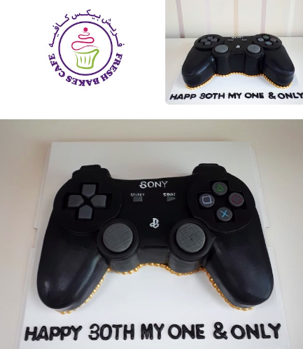 PlayStation Themed Cake - Controller - 3D Cake 05