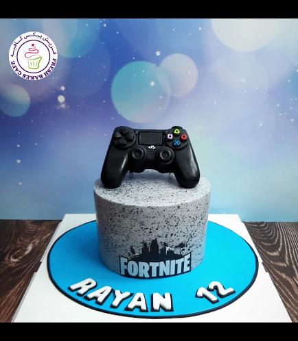 Playstation Themed Cake - Controller - 3D Cake Topper - Fortnite